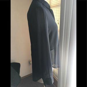 Lush Tops - ♥️🖤LUSH Black Sheer Hi Low Top Size M